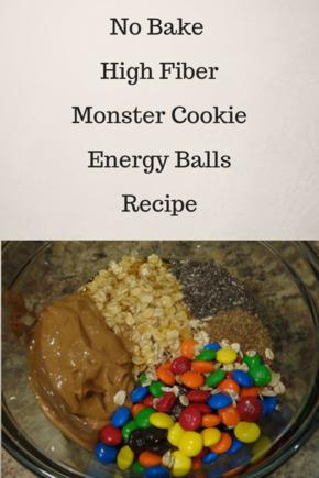 No Bake Monster Cookie Fiber Energy Balls