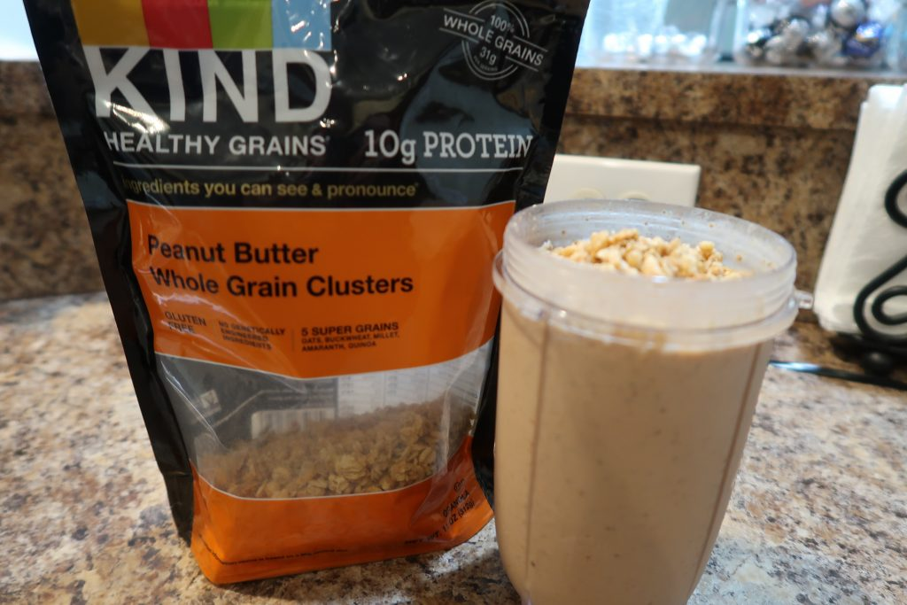 How I make my Peanut Butter Banana Smoothie