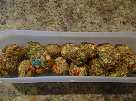 high fiber energy balls, No Bake Monster Cookie Fiber Energy Balls, Alexis D Lee