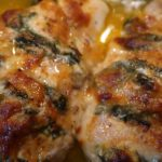 Hasselback chicken, Hasselback Chicken: Spinach & Goat Cheese, Alexis D Lee