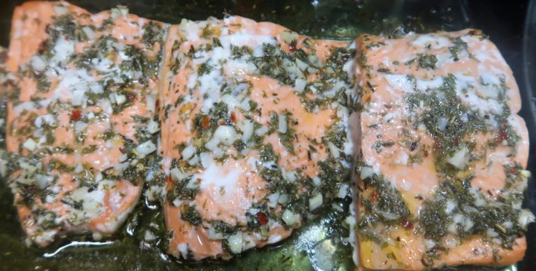 lemon garlic baked salmon